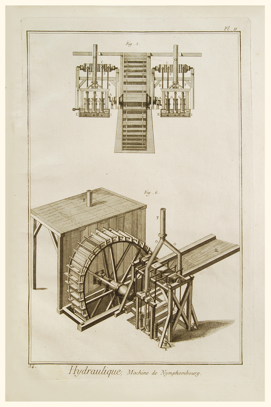 Industry  Watermill Diagrams  Set Of 4   Goussier  C1756