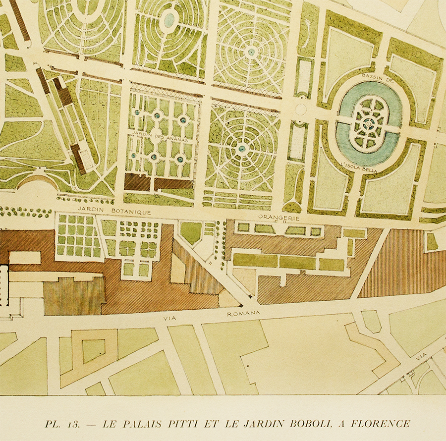 The pitti palace and boboli gardens in florence gromort for Garden design 1900