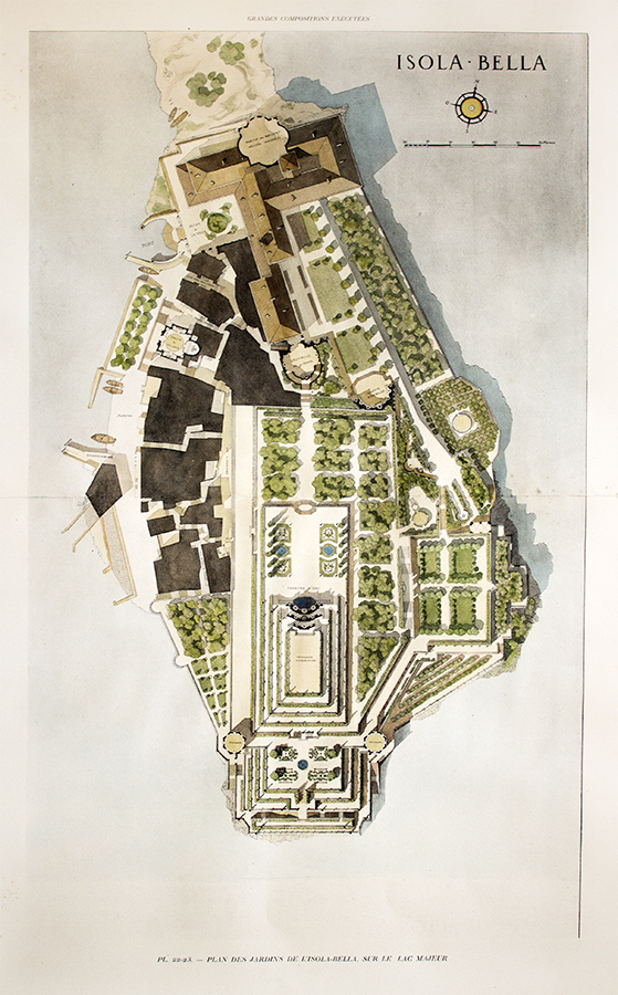 Garden plan of isola bella lac majeur gromort c 1900 for Garden design 1900