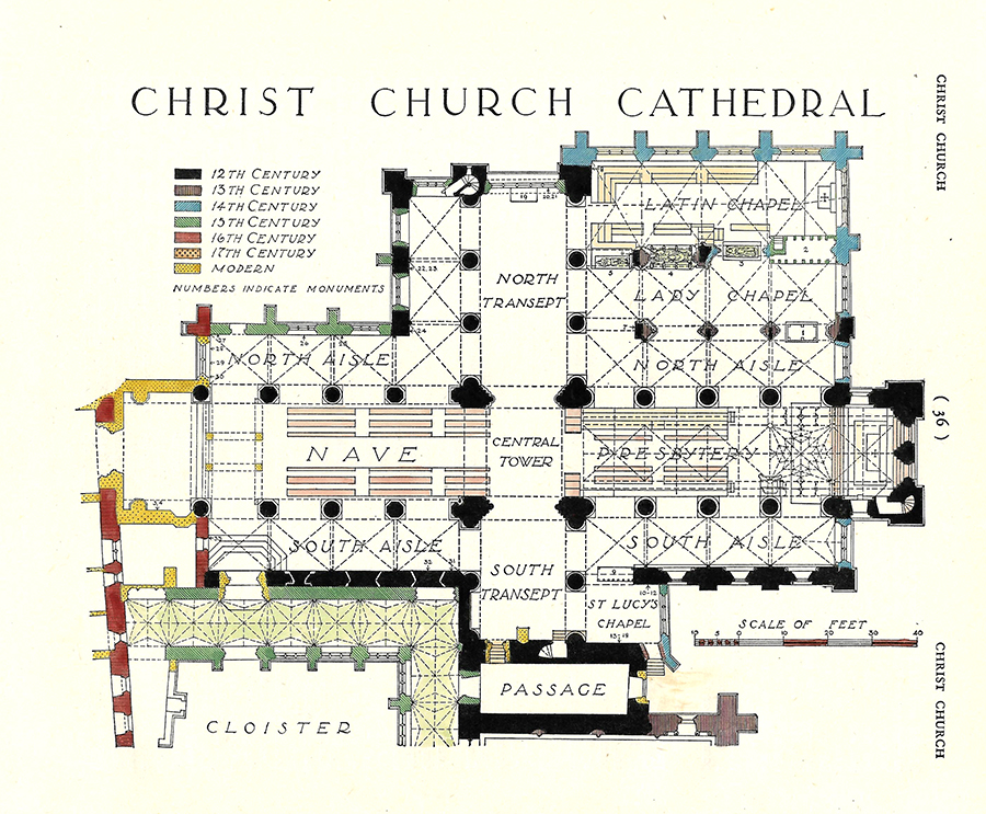 Oxford University Christ Church Cathedral Clowes 1949