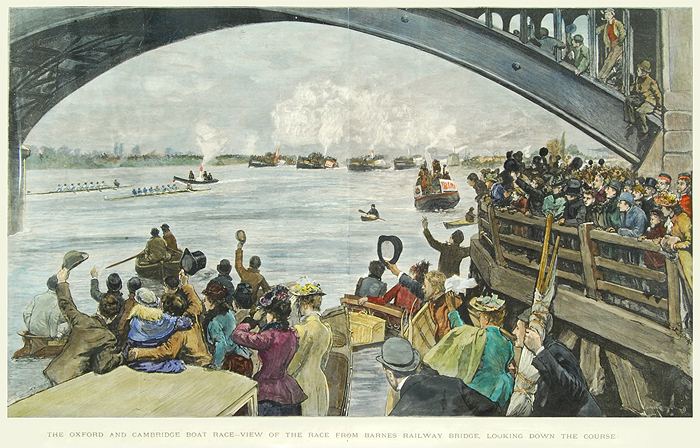 The Oxford and Cambridge Boat Race - View of the race from ...