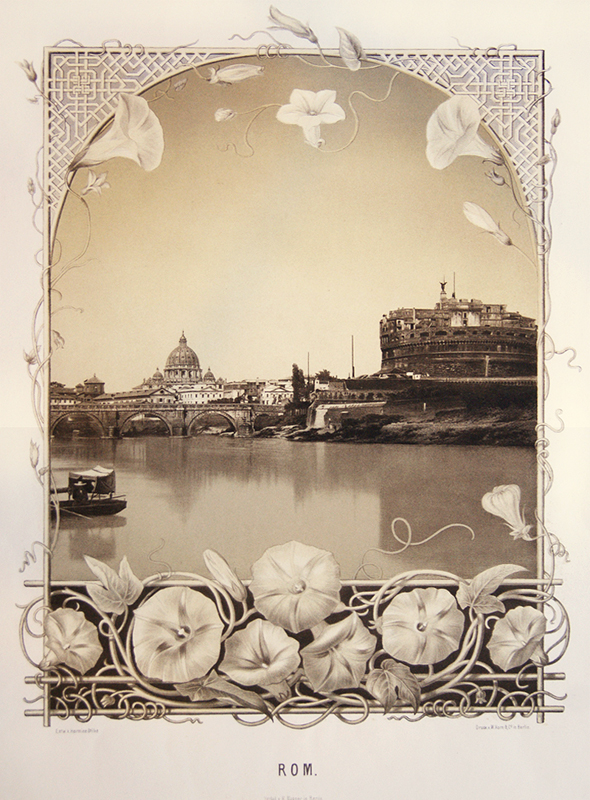 Rome Photographic Lithograph Stilke C1900