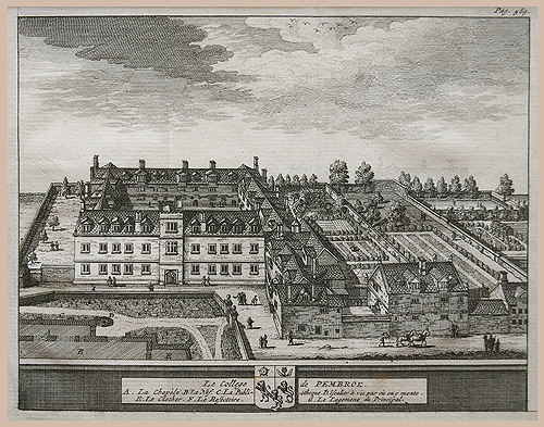 Oxford University Pembroke College Beverell 1707