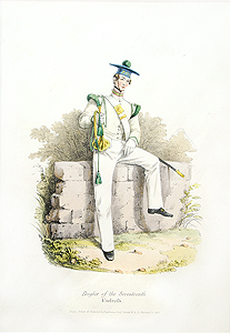 Costume Of The British Military Bugler Of The Seventeenth
