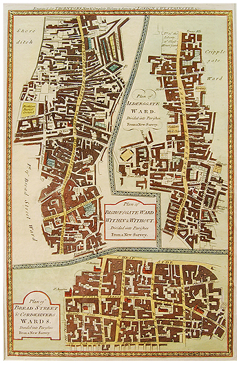 Bishopsgate And Cordwainers Ward Hogg 1784