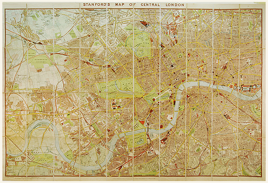 Central London Districts Map.Stanford S Central London 1897
