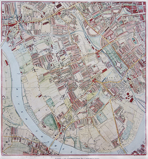 Map Of Fulham 1892 Fine Art Reproduction